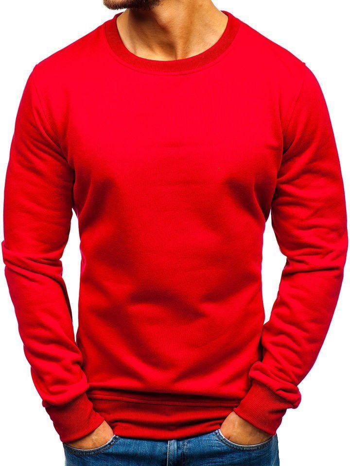 ciemno czerwona bluza meska