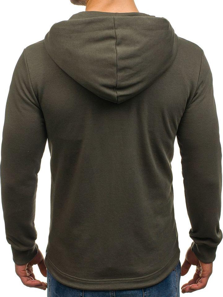 Bluza męska z kapturem rozpinana zielona Denley 171485