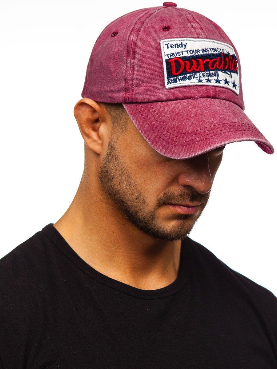 Bordowa-czapka-z-daszkiem-Denley