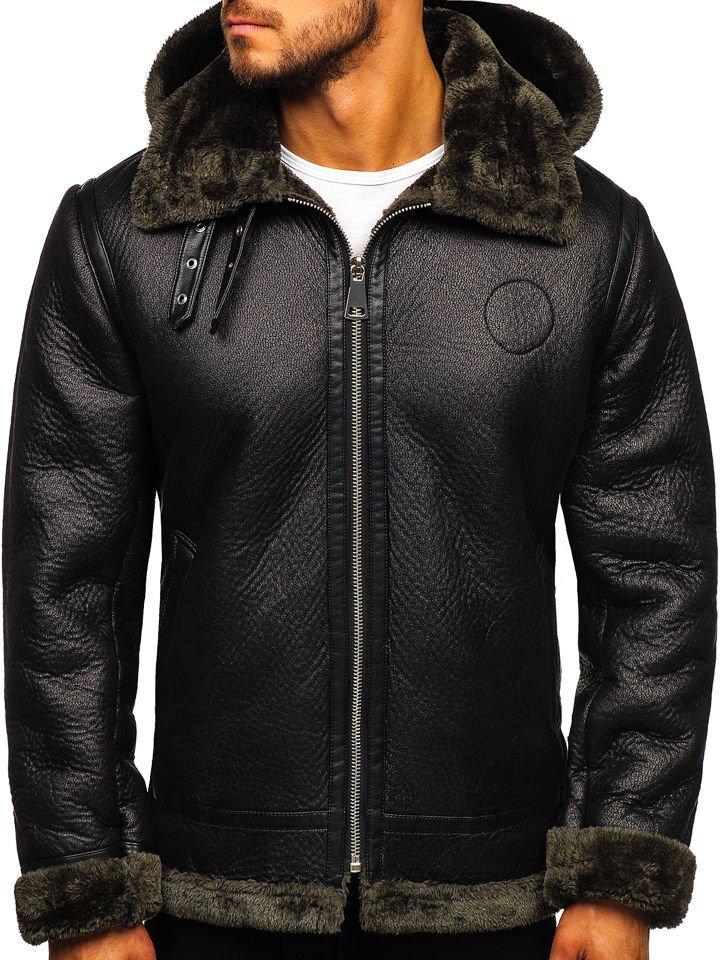 kurtka męska z kożuchem i ściągaczami