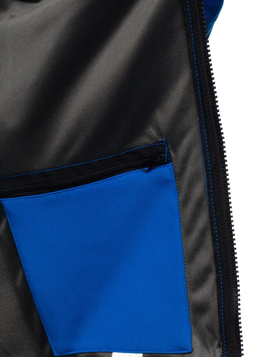 kurtka biała u góry na dole niebieska męska