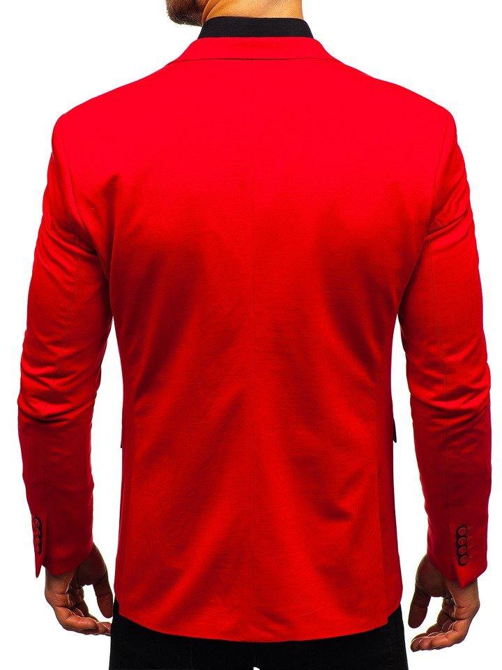 ab056f74c8e35 Marynarka męska elegancka czerwona Denley 191060