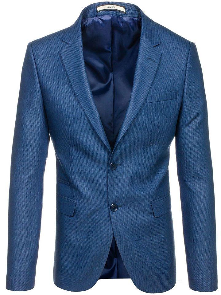 78ba3f0c8229d Marynarka męska elegancka jasnoniebieska Denley 1050