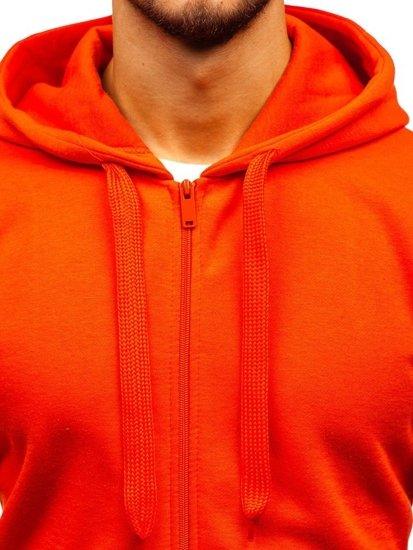 Bluza męska z kapturem pomarańczowa Denley AK50A