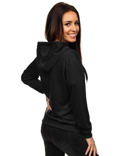 Bluza damska z kapturem czarna Denley WB1005