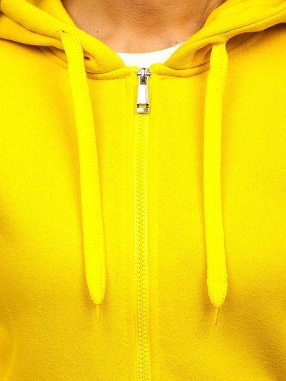 Bluza damska z kapturem żółta Denley W03