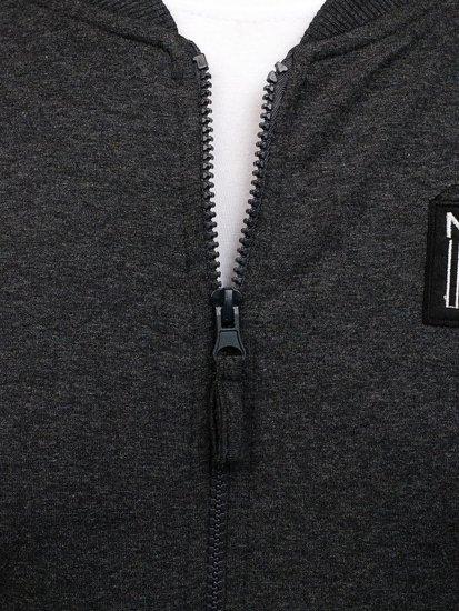 Bluza męska bez kaptura antracytowa Denley 0736