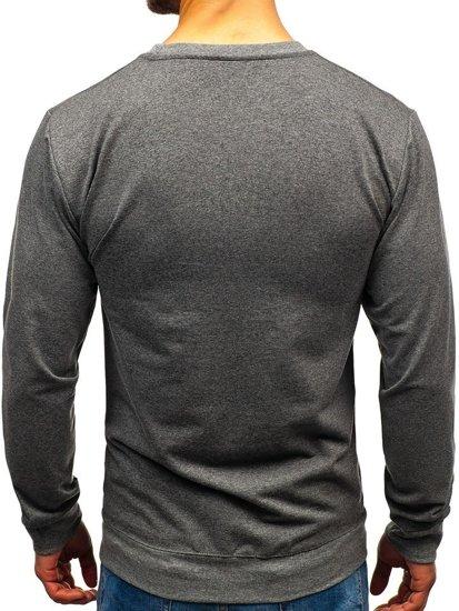 Bluza męska bez kaptura antracytowa Denley 1221