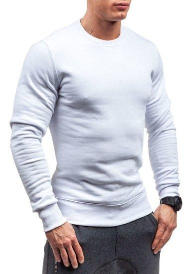 Bluza męska bez kaptura biała Bolf 44S