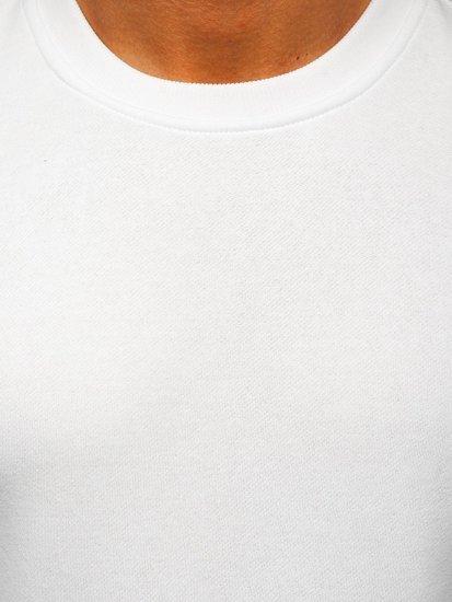 Bluza męska bez kaptura biała Denley 2001