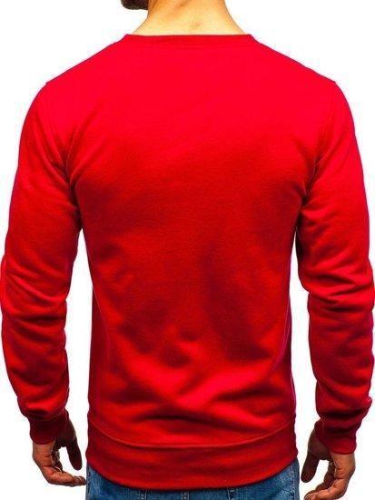 Bluza męska bez kaptura ciemnoczerwona Bolf BO-01