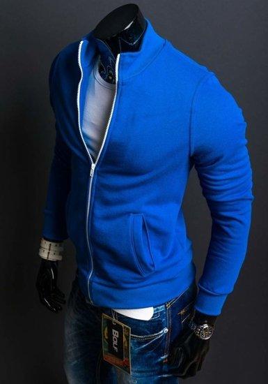 Bluza męska bez kaptura indygo Bolf 12