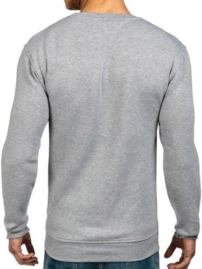Bluza męska bez kaptura szara Denley 1229