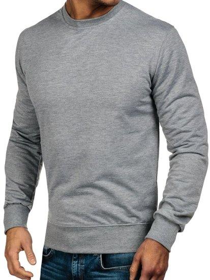 Bluza męska bez kaptura szara Denley 7039