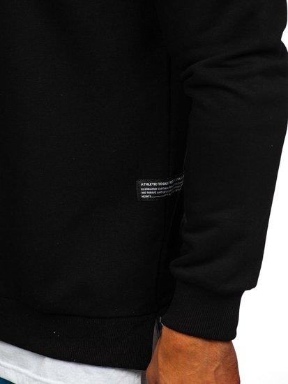 Bluza męska bez kaptura z nadrukiem czarna Bolf 11116