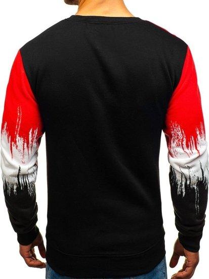 Bluza męska bez kaptura z nadrukiem czerwona Denley TX12