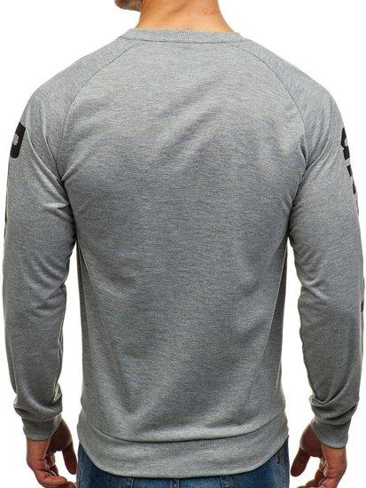 Bluza męska bez kaptura z nadrukiem multikolor Denley HY201A