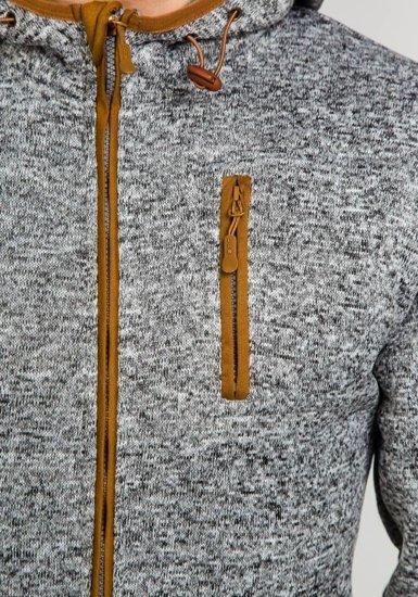 Bluza męska z kapturem antracytowa Denley 3562A