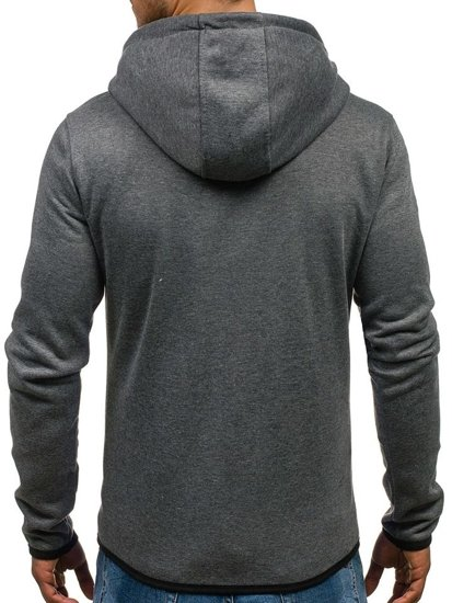 Bluza męska z kapturem antracytowa Denley J16