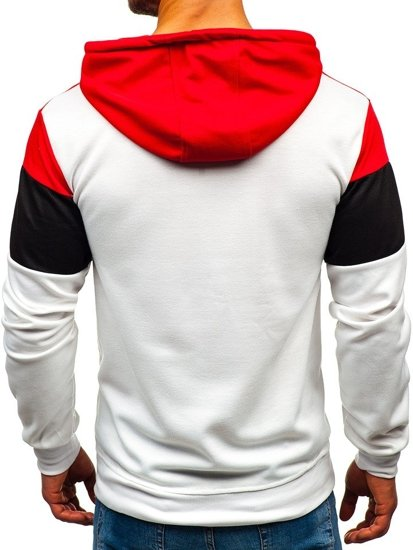 Bluza męska z kapturem biała Denley 35010