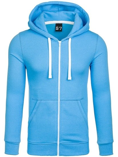 Bluza męska z kapturem błękitna Denley 03