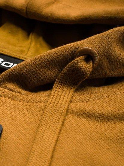 Bluza męska z kapturem brązowa Bolf 5361
