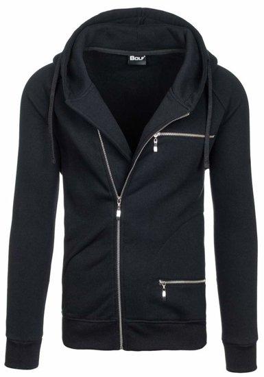 Bluza męska z kapturem czarna Bolf 31S-ZM