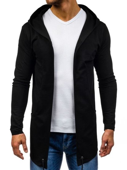 Bluza męska z kapturem czarna Denley 0790