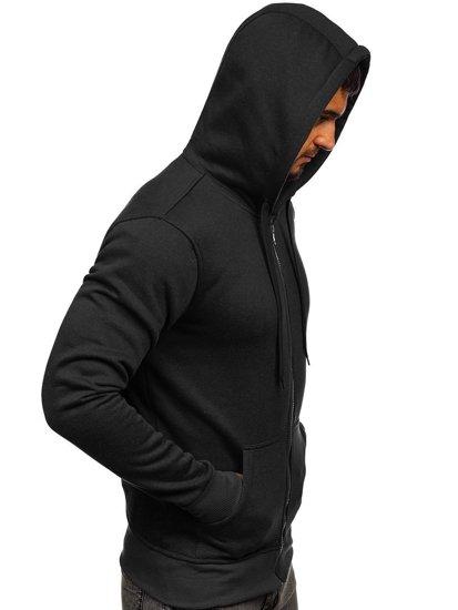 Bluza męska z kapturem czarna Denley 2008