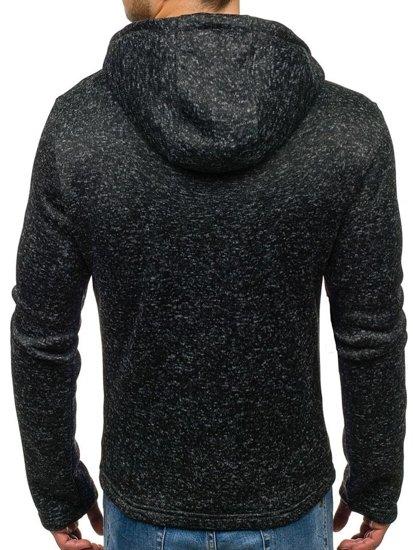 Bluza męska z kapturem czarna Denley 2142