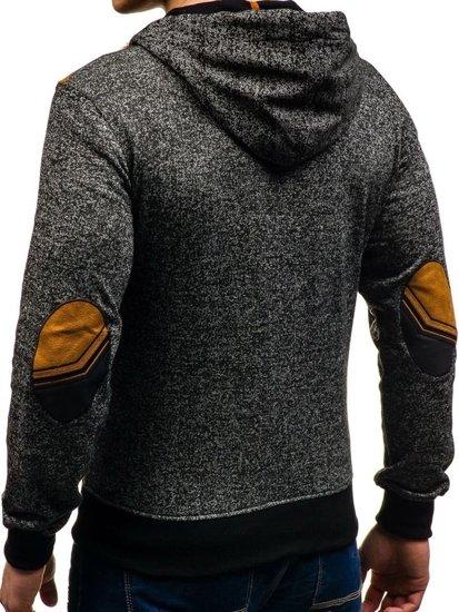 Bluza męska z kapturem czarna Denley 3512