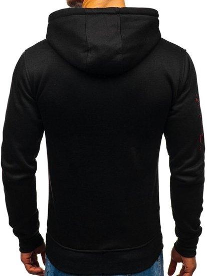 Bluza męska z kapturem czarna Denley DD593