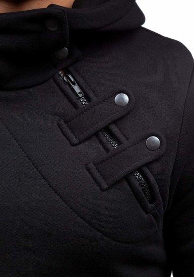 Bluza męska z kapturem czarna Denley MARIO