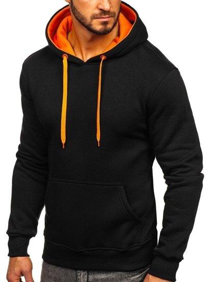 Bluza męska z kapturem czarno-pomarańczowa Denley 2011
