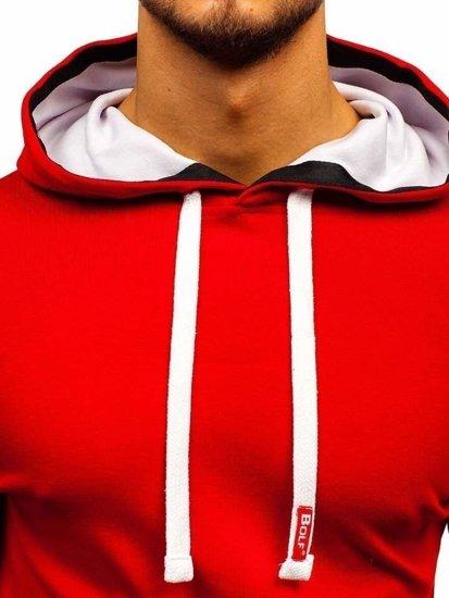 Bluza męska z kapturem czerwona Bolf 03-2