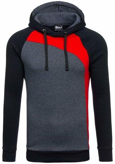 Bluza męska z kapturem czerwona Bolf 28S