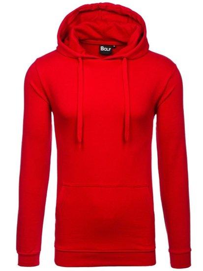Bluza męska z kapturem czerwona Bolf 5361