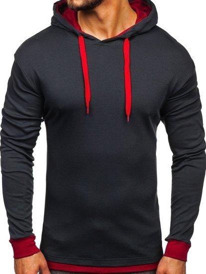 Bluza męska z kapturem grafitowa Bolf 145380