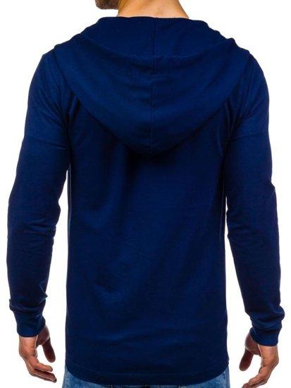 Bluza męska z kapturem granatowa Denley 0353