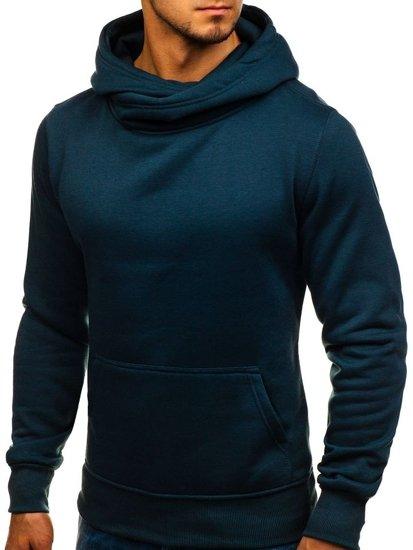 Bluza męska z kapturem granatowa Denley 2078