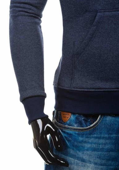 Bluza męska z kapturem granatowa Denley GIORGIO