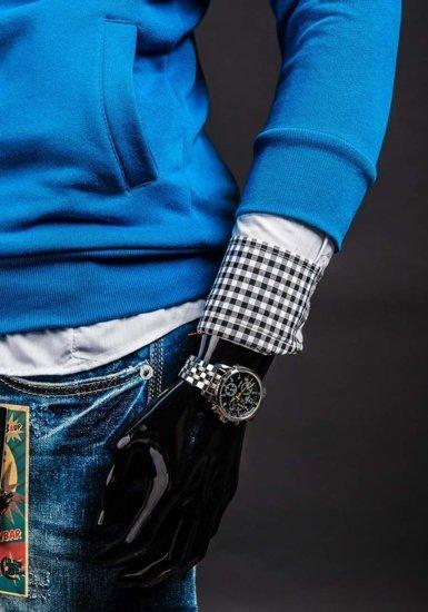Bluza męska z kapturem indygo Bolf 13