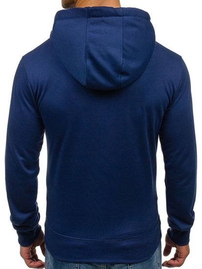 Bluza męska z kapturem indygo Denley 7038
