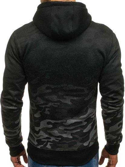 Bluza męska z kapturem moro-grafitowa Denley DD134-1