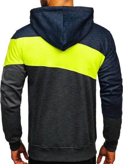 Bluza męska z kapturem rozpinana multikolor Denley 2103D