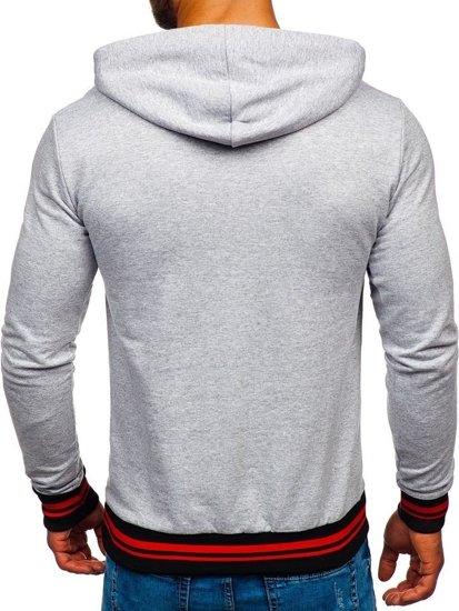 Bluza męska z kapturem szara Bolf 145365