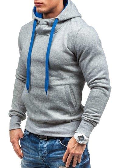 Bluza męska z kapturem szara Bolf AK72