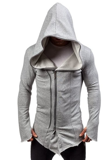 Bluza męska z kapturem szara Denley 2036-1