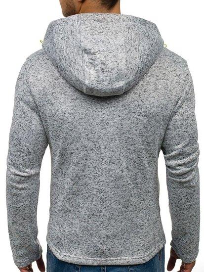 Bluza męska z kapturem szara Denley 2142