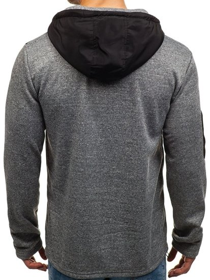 Bluza męska z kapturem szara Denley 2918